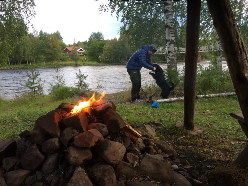 Fin lägerplats vid Oxberg