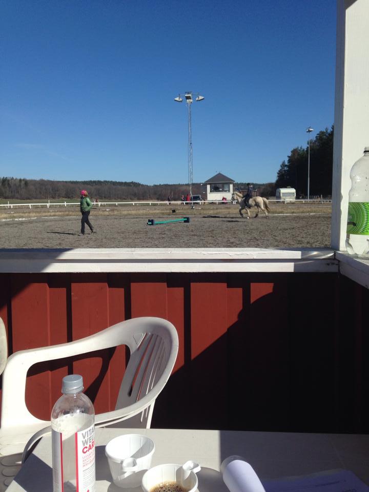 Coachning under uppvärmning Foto: Johanna Markinhuhta